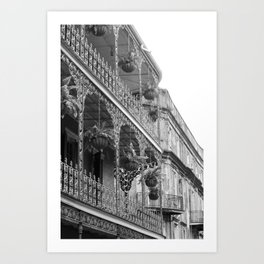New Orleans Architecture - Black & White Photography Art Print