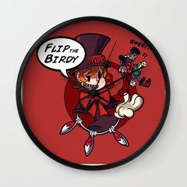 Skullgirls-Flip the Birdy Wall Clock