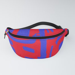 Abstract in Blue and Red II Fanny Pack