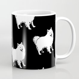 American Eskimo Dog Breed Pattern Coffee Mug