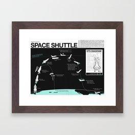Space Shuttle Mission Diagram  Framed Art Print