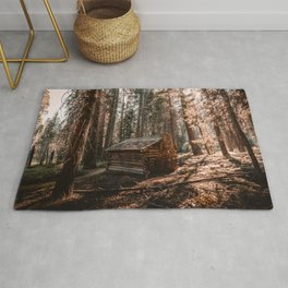 Log Cabin in the Forest Rug