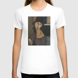 Modigliani - Jeanne Hebuterne With Hat And Necklace T-shirt