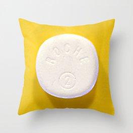 Yellow Rohypnol Throw Pillow