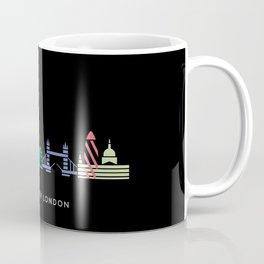 London Skyline Black Coffee Mug