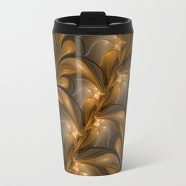Warming, Luminous Abstract Fractal Art Travel Mug