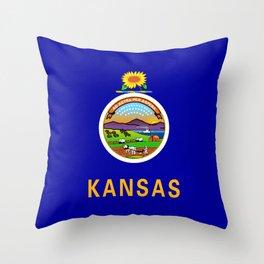 Kansas State Flag Throw Pillow