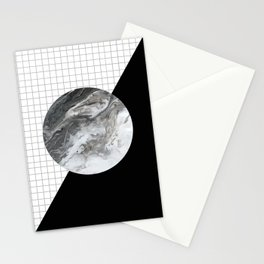 Grid and marble Stationery Cards