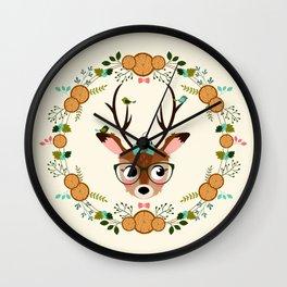 biche à la couronne Wall Clock