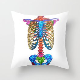 Vertebral Throw Pillow