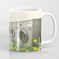 waterfall Mugs featuring Waterfall by Cassia Beck