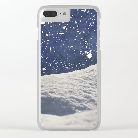 Snow Time Clear iPhone Case