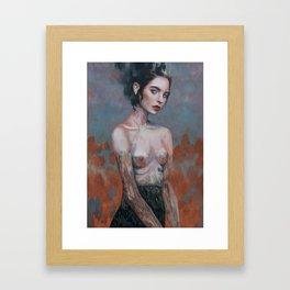 Burning Fields Framed Art Print