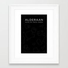 Outer Rim Travel Bureau: Alderaan Framed Art Print