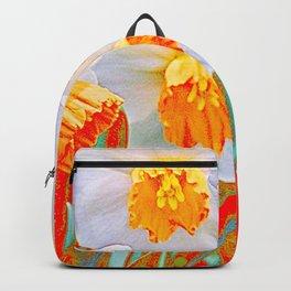 GOLDEN SPRING DAFFODILS RED GARDEN Backpack