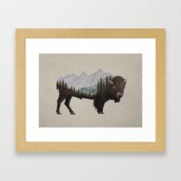 The Land of the Bison Framed Art Print