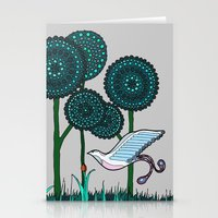 phoenix Stationery Cards featuring Phoenix by Evi Radauscher