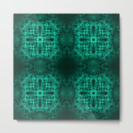 Electric Green Stronghold Metal Print