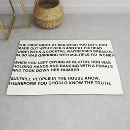 Anonymous Letter To Sammi Sweetheart Jersey Shore Rug