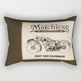 Matchless vintage motorcycle Rectangular Pillow