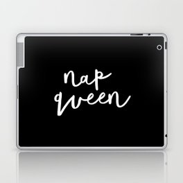 Nap Queen black and white typography design home wall decor bedroom gift for girlfriend Laptop & iPad Skin