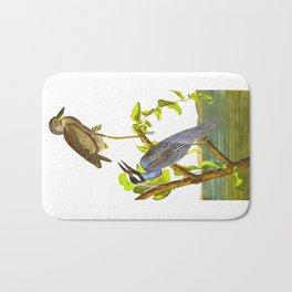 Yellow-Crowned Heron Bath Mat