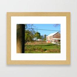 Amish Clothesline Framed Art Print