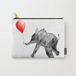 Happy Valentines, watercolor, elephant Carry-All Pouch