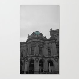 Paris black and white with color Canvas Print