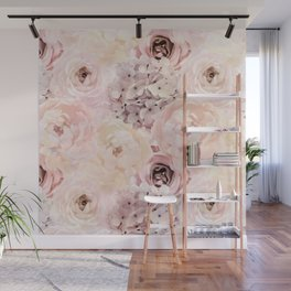 Midsummer Roses- Vintage Rose Pattern Wall Mural
