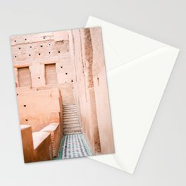Colors of Marrakech Morocco - El badi palace photo print | Pastel travel photography art Stationery Cards
