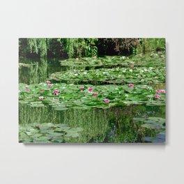 Monet's Lilies Metal Print