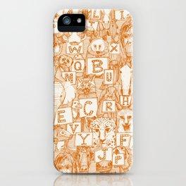animal ABC orange ivory iPhone Case