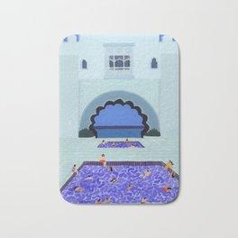 Scallop pool Bath Mat