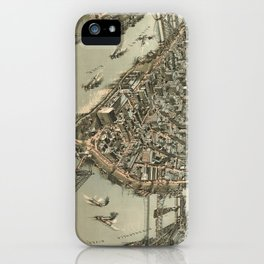 Vintage Pictorial Map of Pittsburgh (1902) iPhone Case
