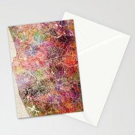 Colombo map Stationery Cards