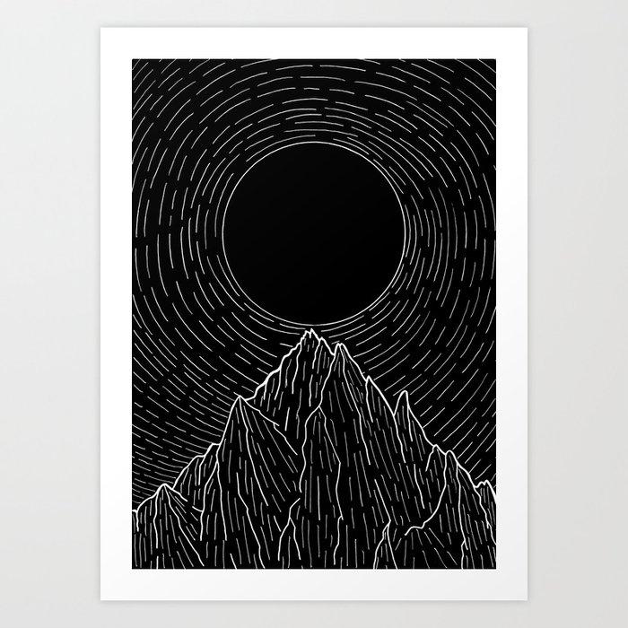The dark sun over the mountains Kunstdrucke