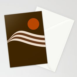 Swell - Cocoa Stripes Stationery Cards