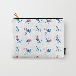 Heliconia Flower Blue&White Carry-All Pouch