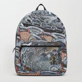 Golden Fishes Backpack