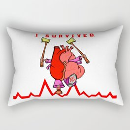 Heart Attack Rectangular Pillow
