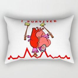 Heart Attack Rectangular Pillow