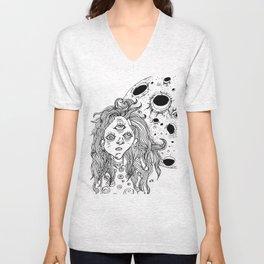 moon girl Unisex V-Neck