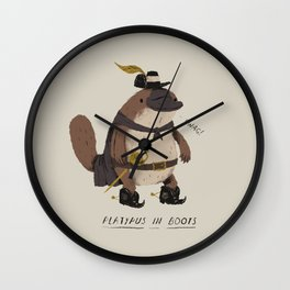 platypus in boots Wall Clock