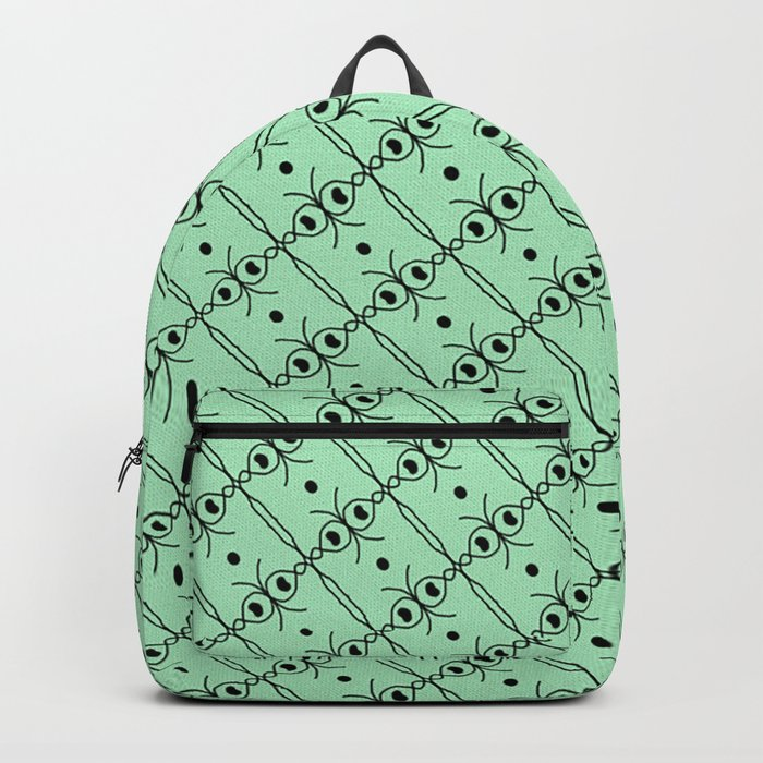 Teal and Black Geometric Pattern Design Backpack by wenarts  f958059340127