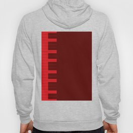 Red Piano Keys Hoody