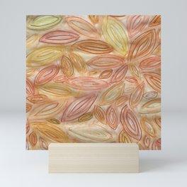 Autumn Leaves in Pumpkin Spice Latte Mini Art Print