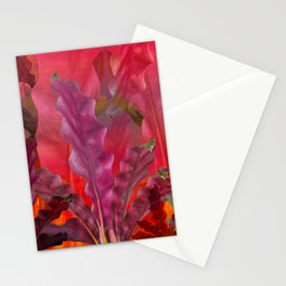 """Pink Scifi Tropical Jungle"" Stationery Cards"