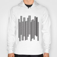 skyline Hoodies featuring Skyline by The New Minimalist