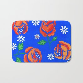 Orange rose tile Bath Mat